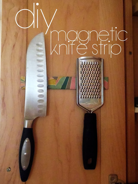 DIY Home Hacks magnetic knife strip