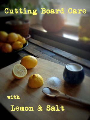 Cleaning with Lemons, All-purpose Lemon Cleaner, Cutting Board Care
